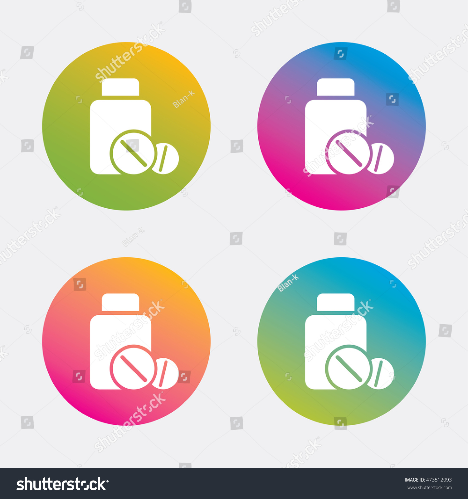 Medical Tablets Bottle Sign Icon Pharmacy Stock Vector 473512093
