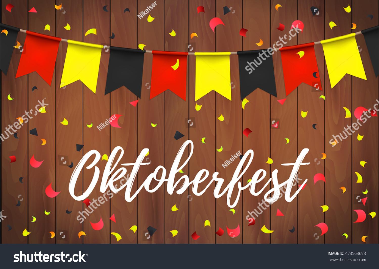 oktoberfest garlands german flag color pattern stock vector