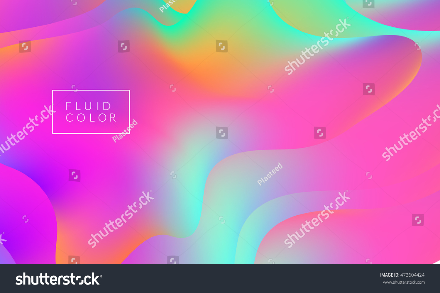 Fluid Colors Wallpaper Bright Colorful Shapes Overlap Eps10 Vector Illustration