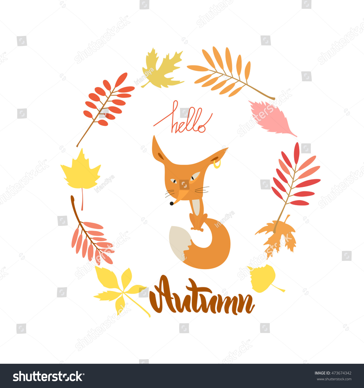Vector Illustration Greeting Card Poster Lettering Stock Vector