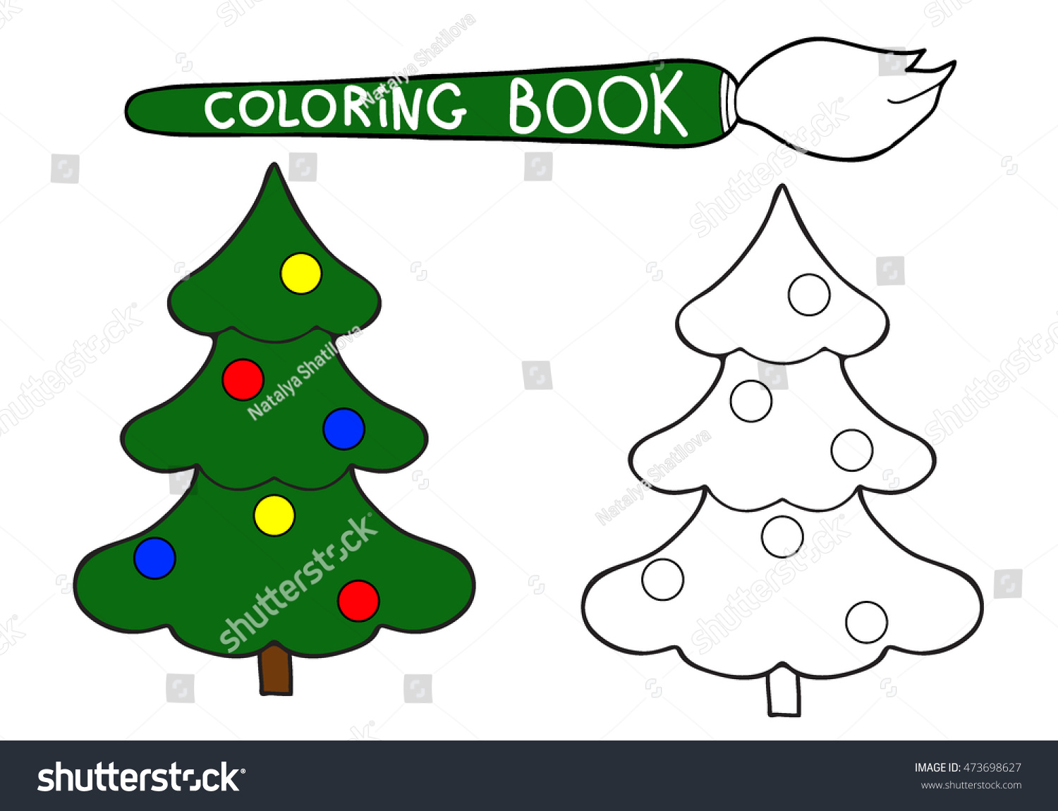 Coloring Book Hand Drawn Black White Stock Photo (Photo, Vector ...