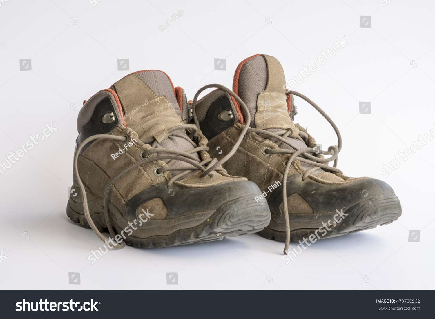 Used Hiking Boots Stock Photo 473700562 - Shutterstock