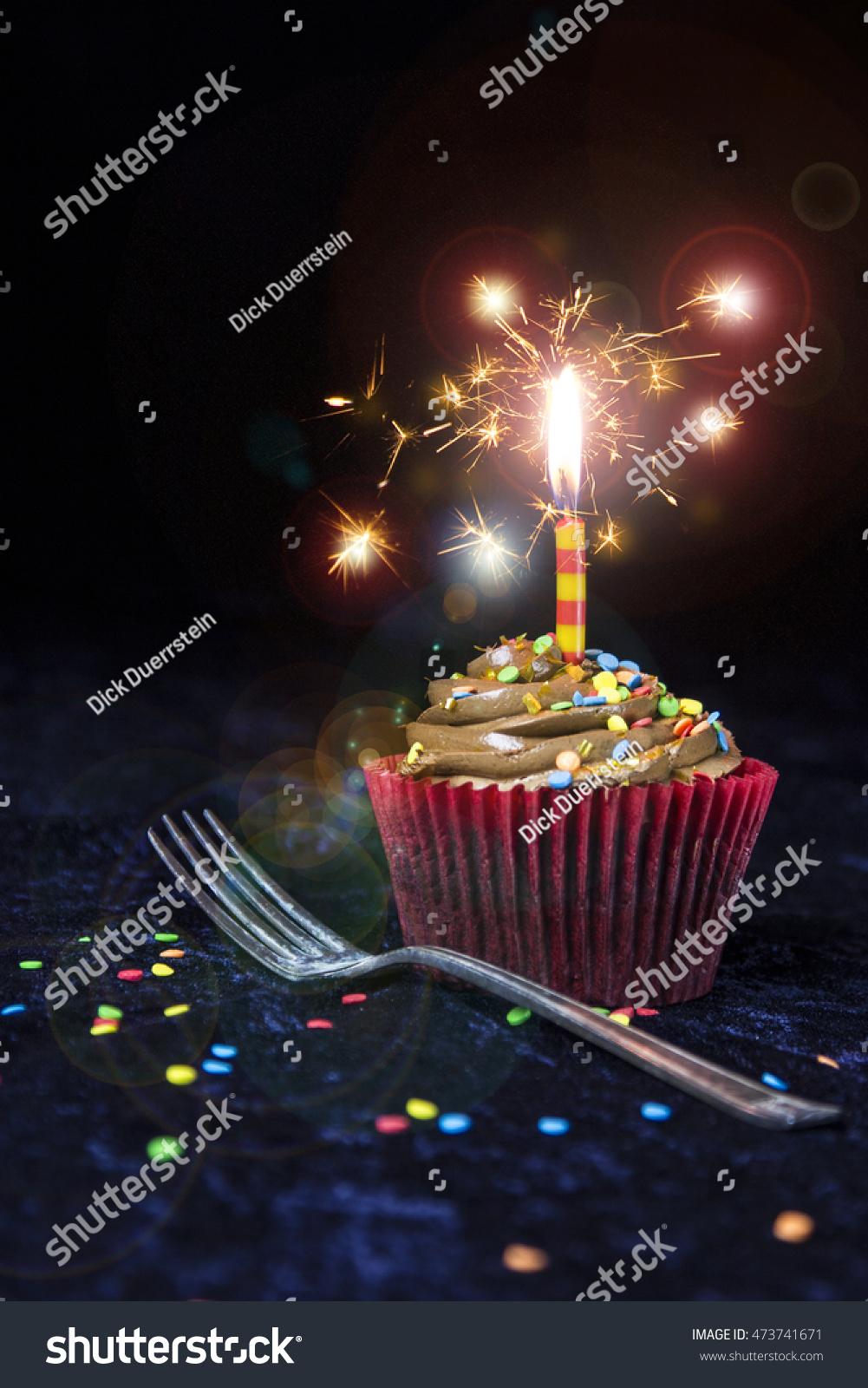 Happy Birthday You Big Chocolate Cupcake Stock Photo Edit Now