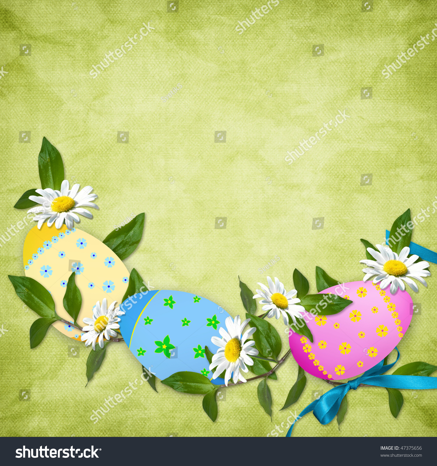Easter Card Holiday Egg On Abstract Stock Illustration