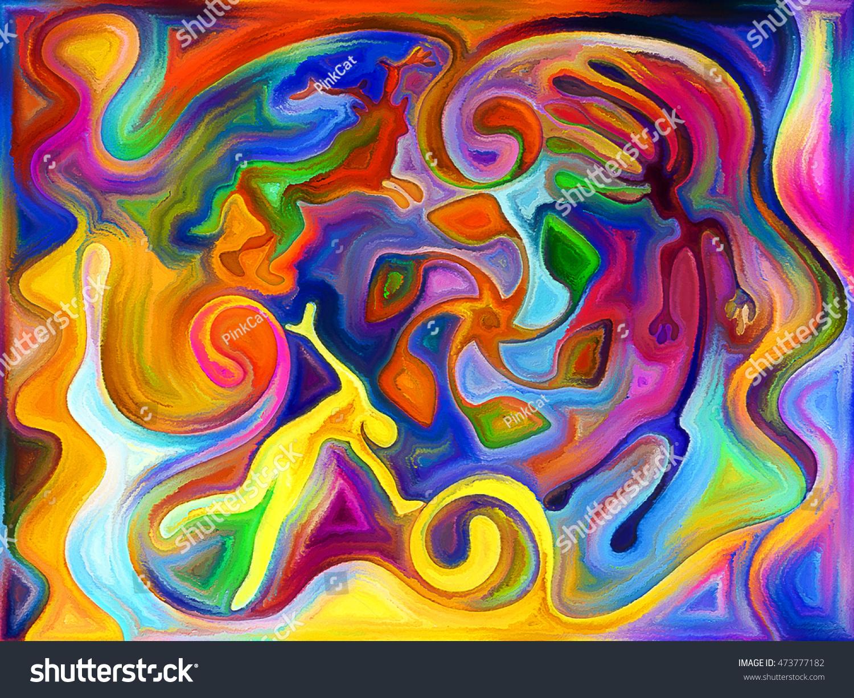 Elements Of Art Painting : Primitive art series composition elements cave stock illustration