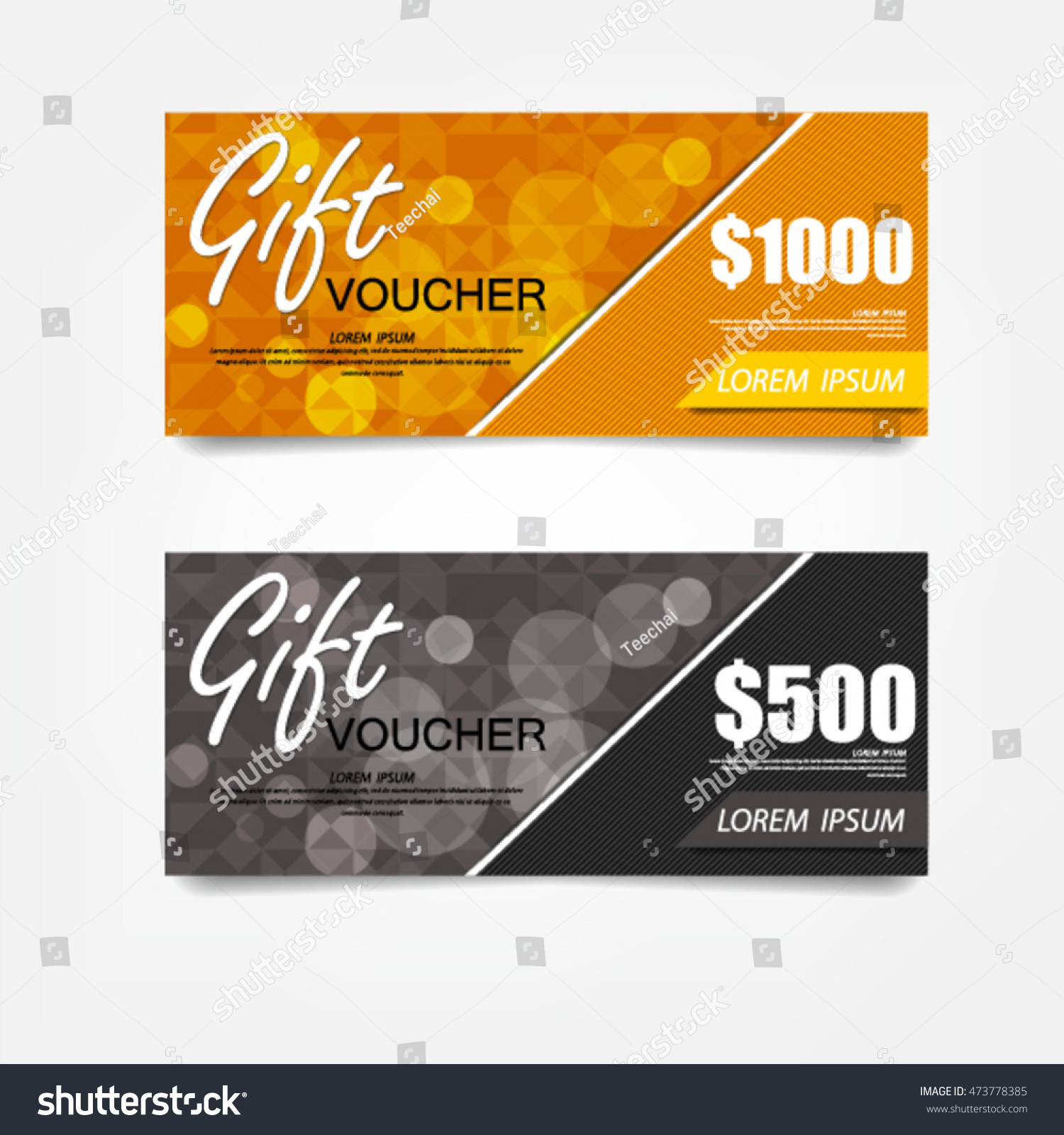 Gift Voucher Template Can Be Use Stock Vector 473778385 - Shutterstock