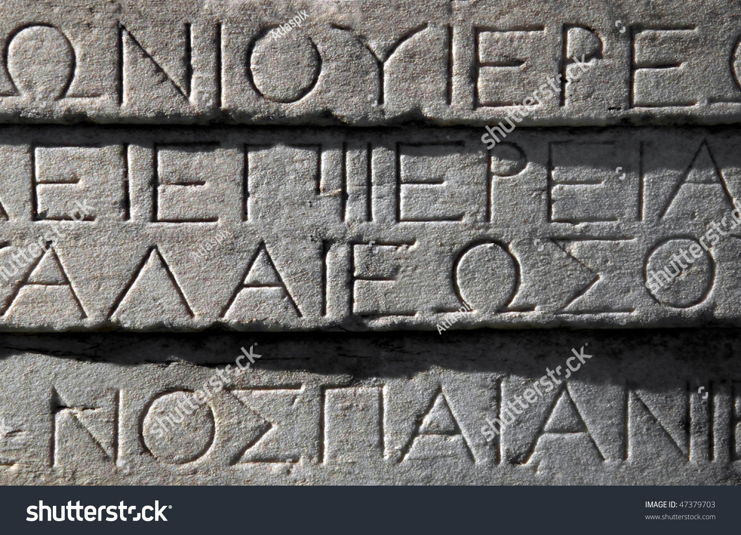 how to write in ancient greek