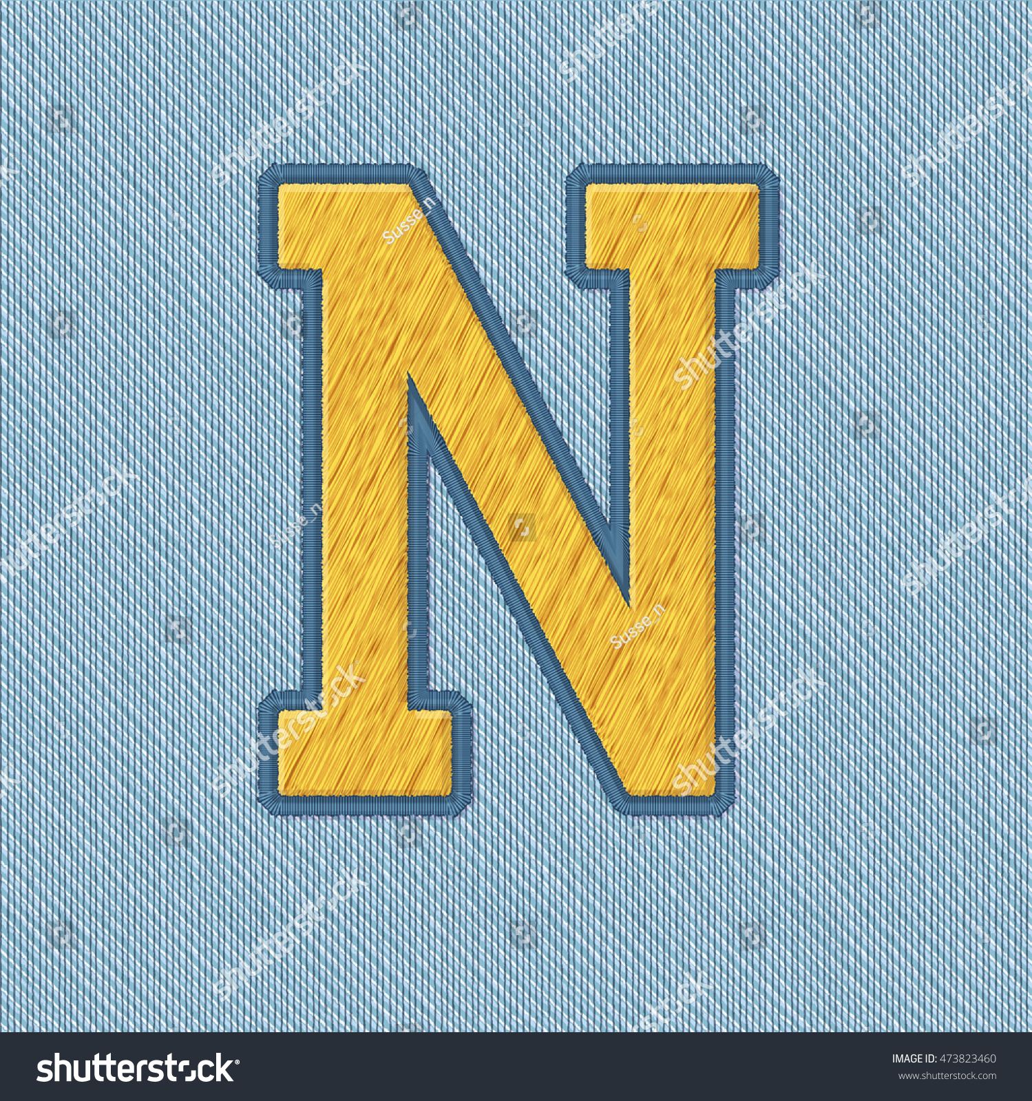 Color Vector Realistic Embroidery Patch Alphabet Stock Vector ...