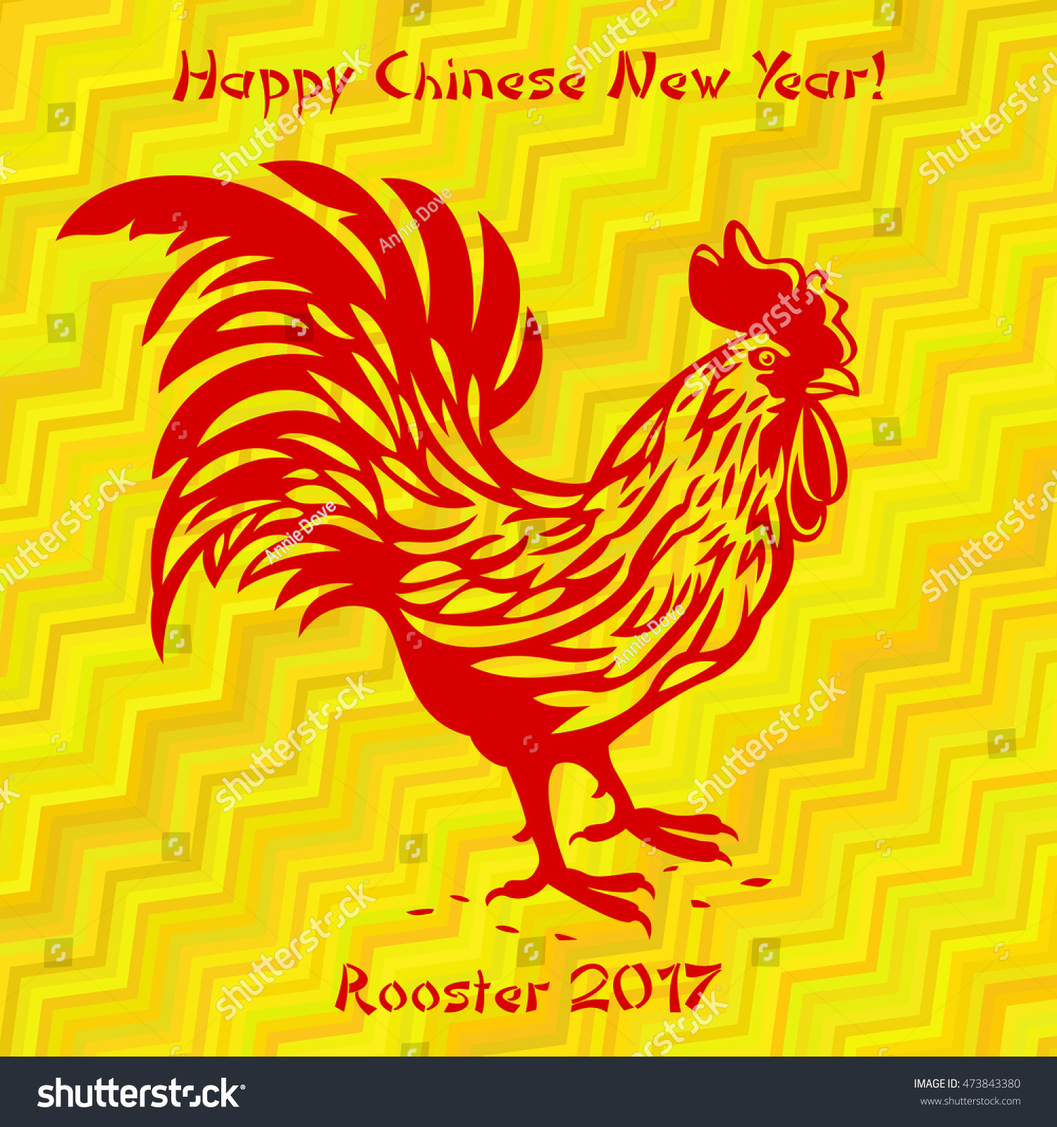 Vector color illustration red rooster text stock vector 473843380 vector color illustration with red rooster and text happy chinese new year on the gold background biocorpaavc