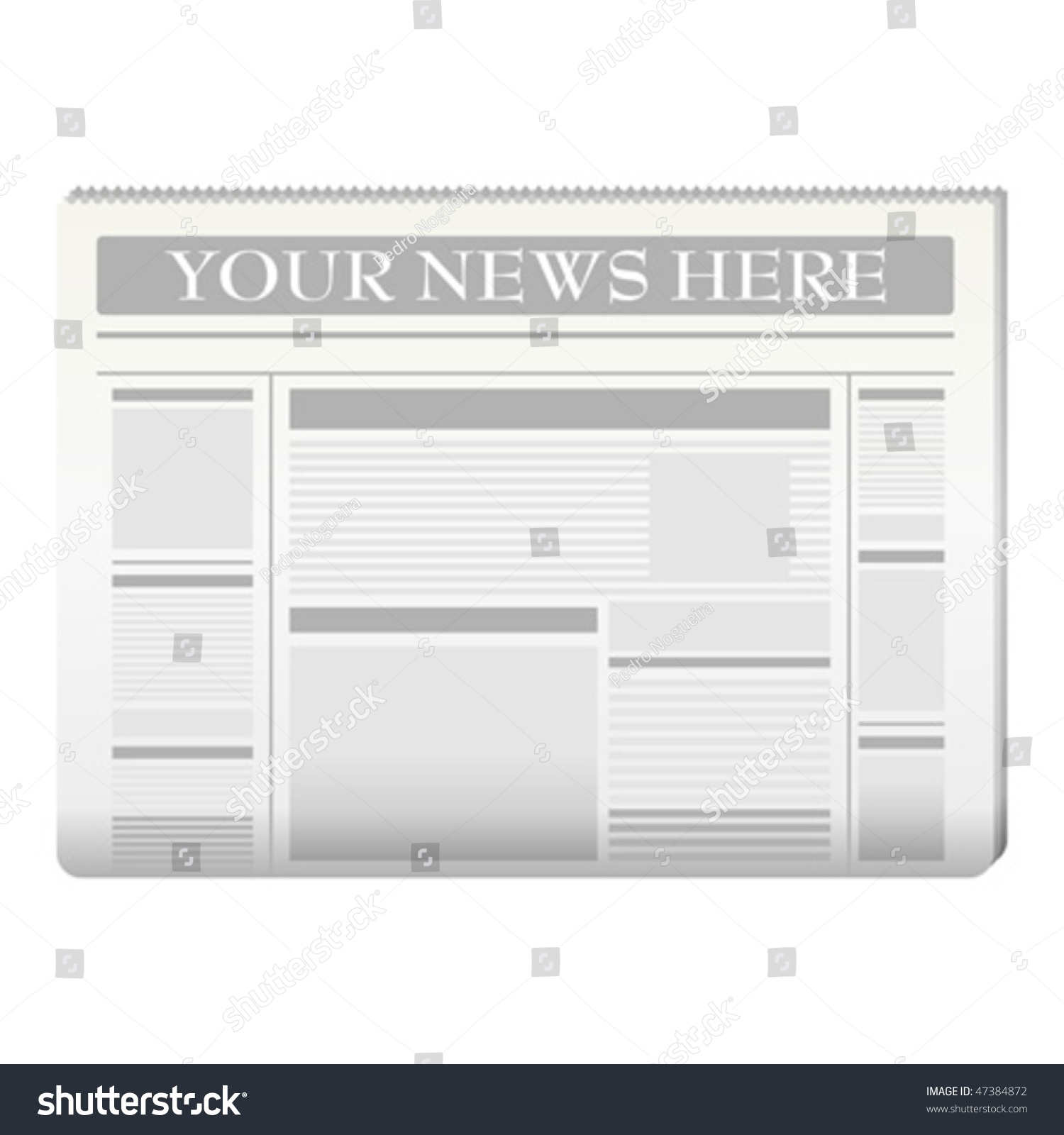 Blank Newspaper Template Extra Extra newspaper front page stock ...