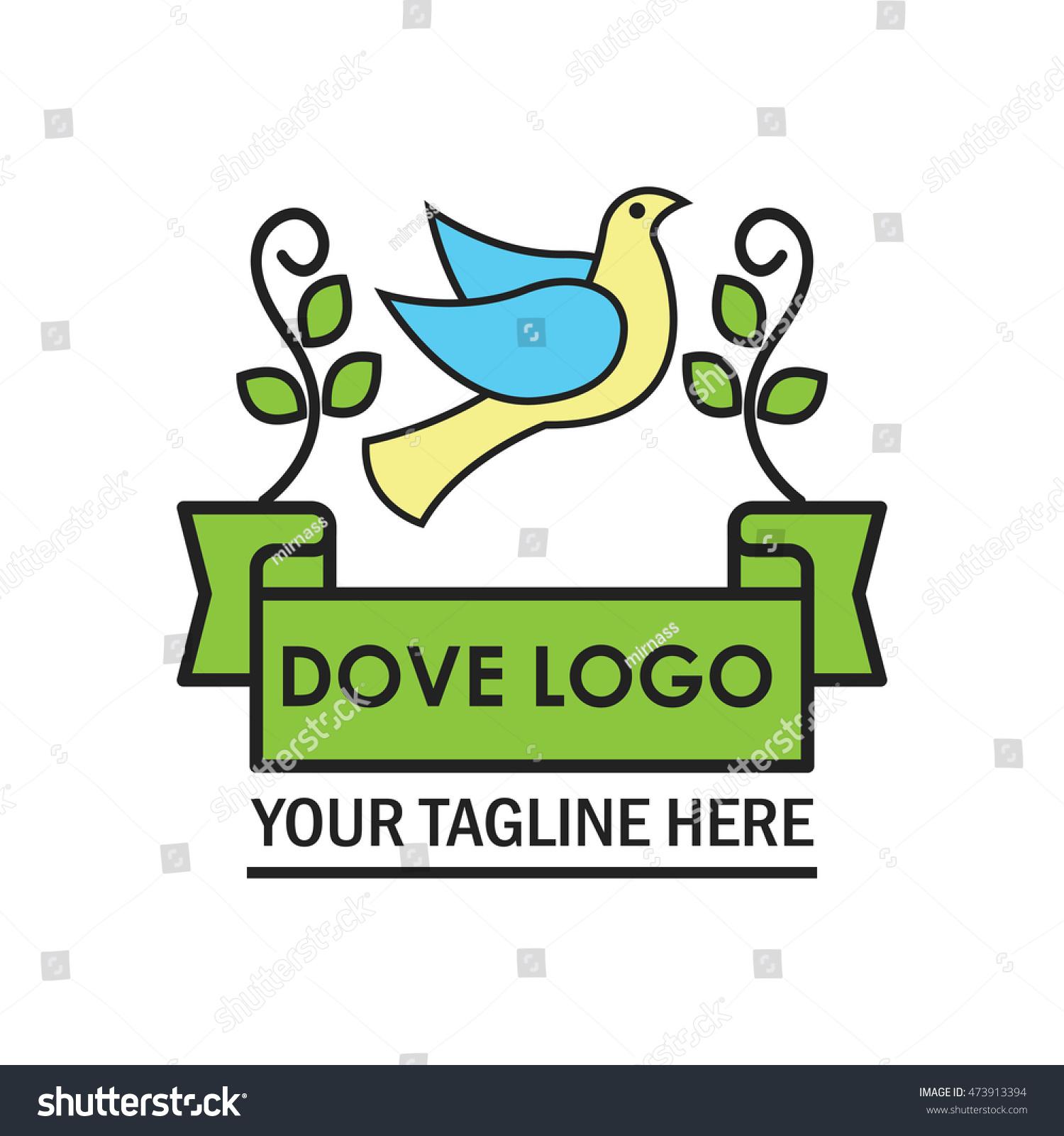 peace dove logo design template stock vector royalty free