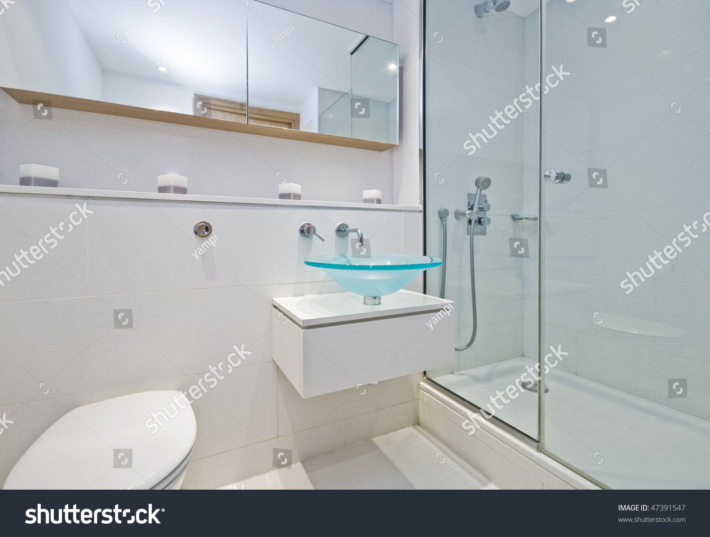 Luxury Designer Ensuite Bathroom Shower Cabin Stock Photo (Edit Now ...