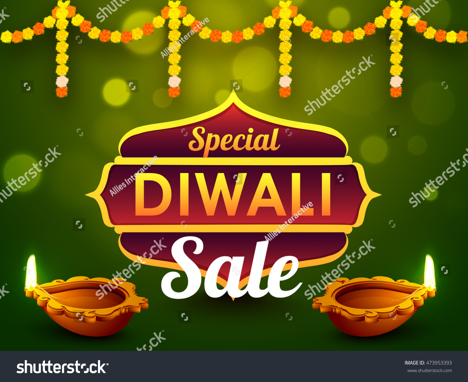 Special Diwali Sale Banner Discount Offer Stock Vector