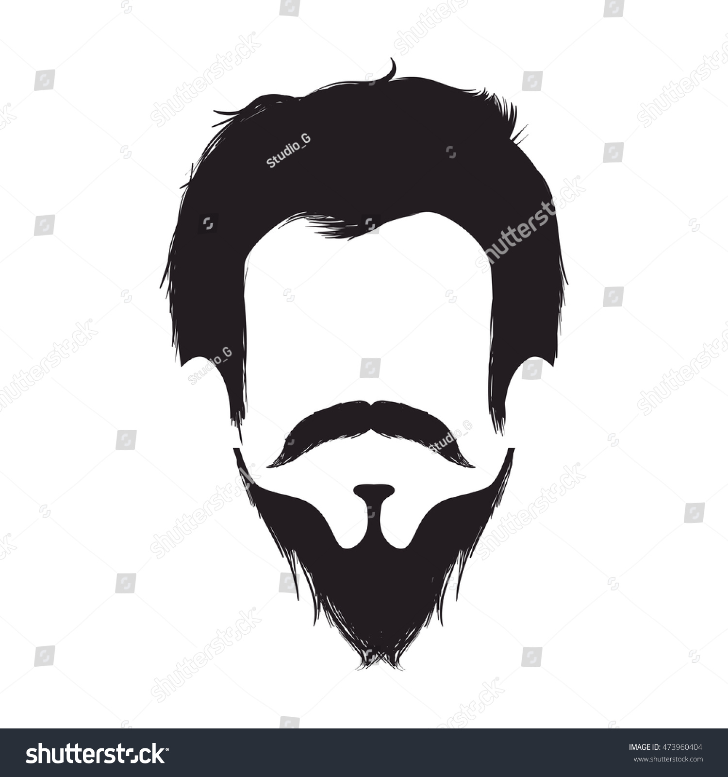 Boy Man Face Hipster Fashion Lifestyle Silhouette Vector Illustration 473960404 Shutterstock