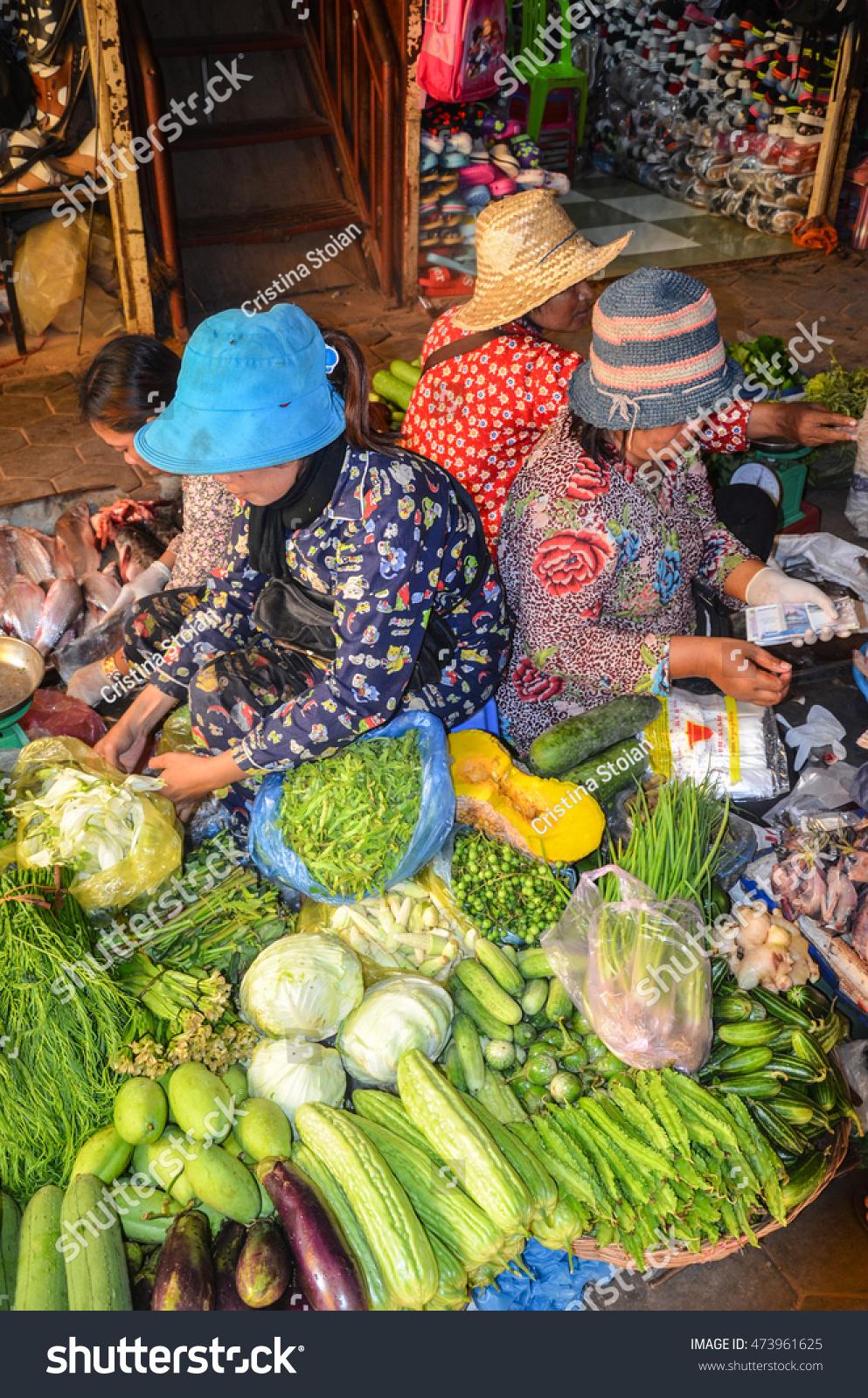 Siem Reap Food Market Cambodia September Stock Photo (Edit