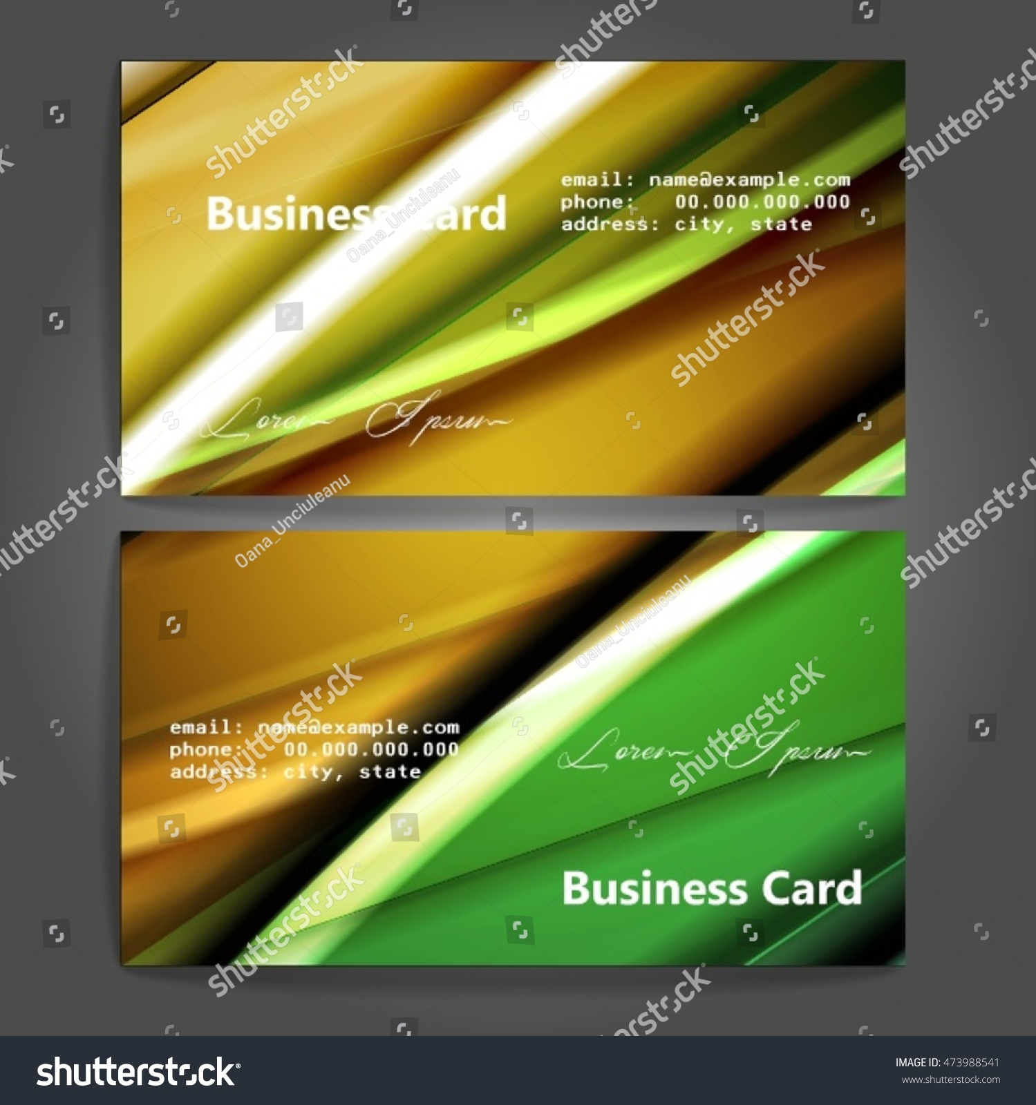 Stylish business cards colorful stripes vector stock vector stylish business cards with colorful stripes vector illustration 5 x 9 cm size reheart Image collections