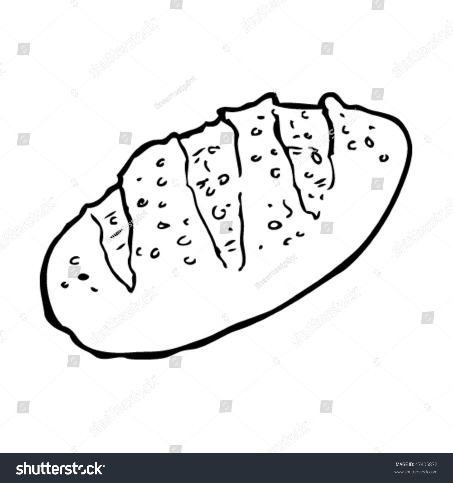 Uncategorized Loaf Of Bread Drawing drawing loaf bread stock vector 47405872 shutterstock of a bread