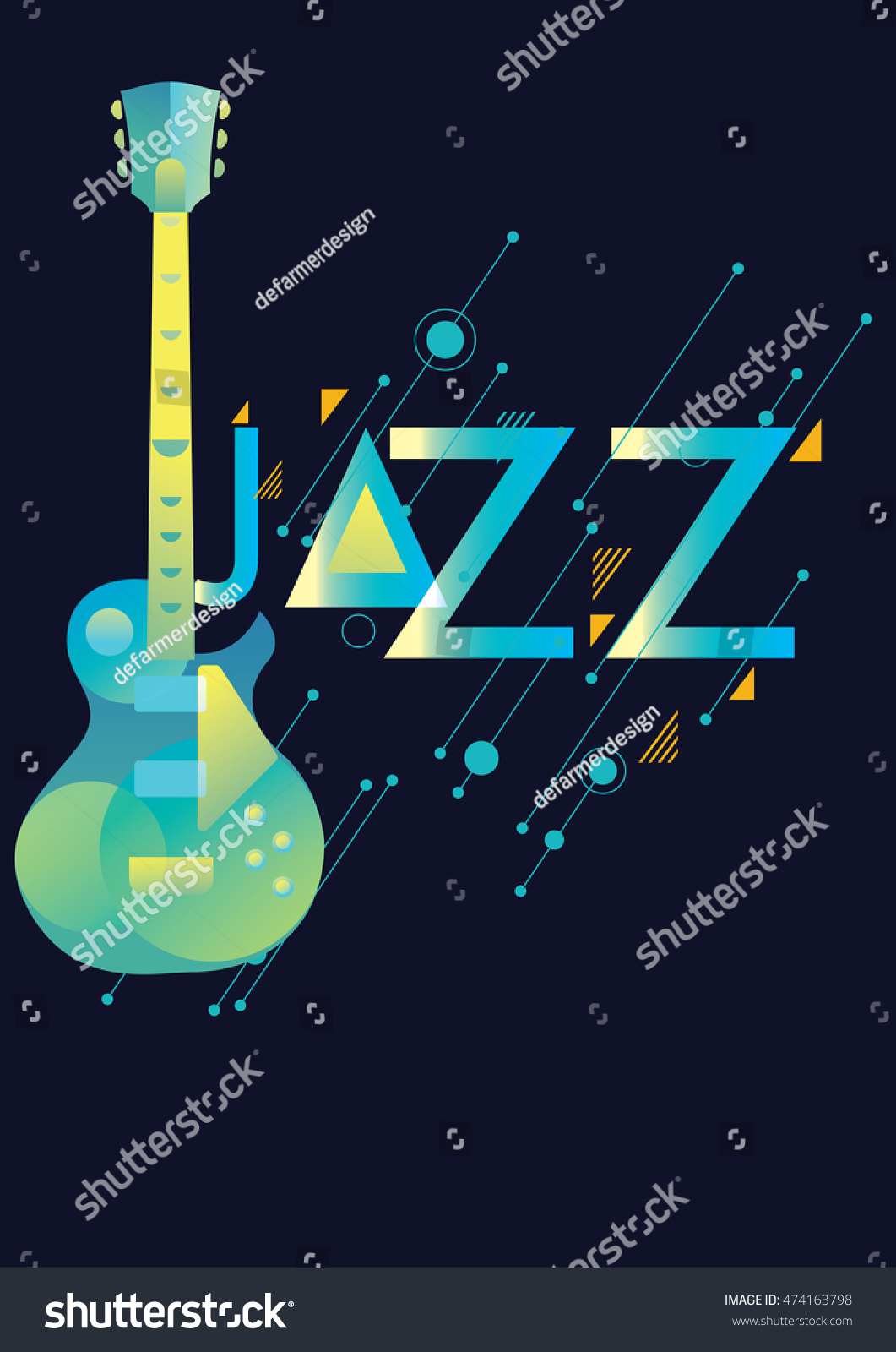 Jazz Music Poster Background Template Vector Stock Vector ...