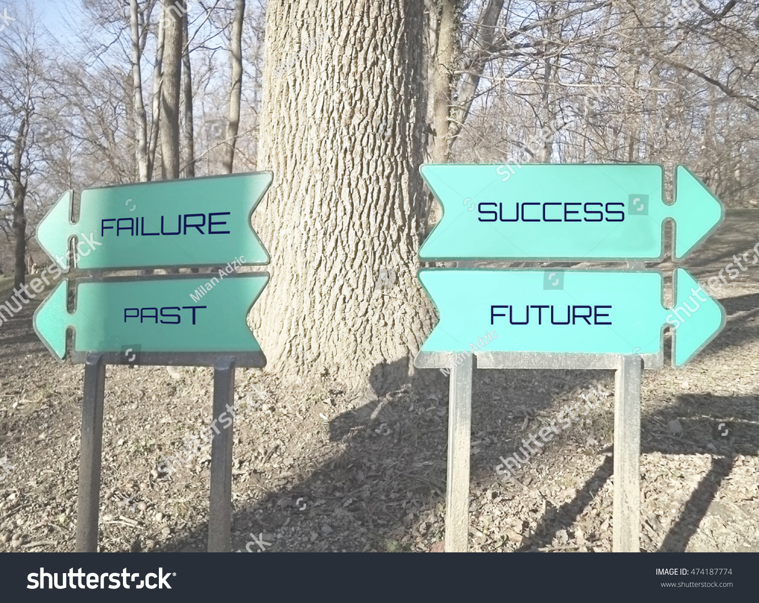 Failure Past Success Future Background Signs Stock Photo Edit Now
