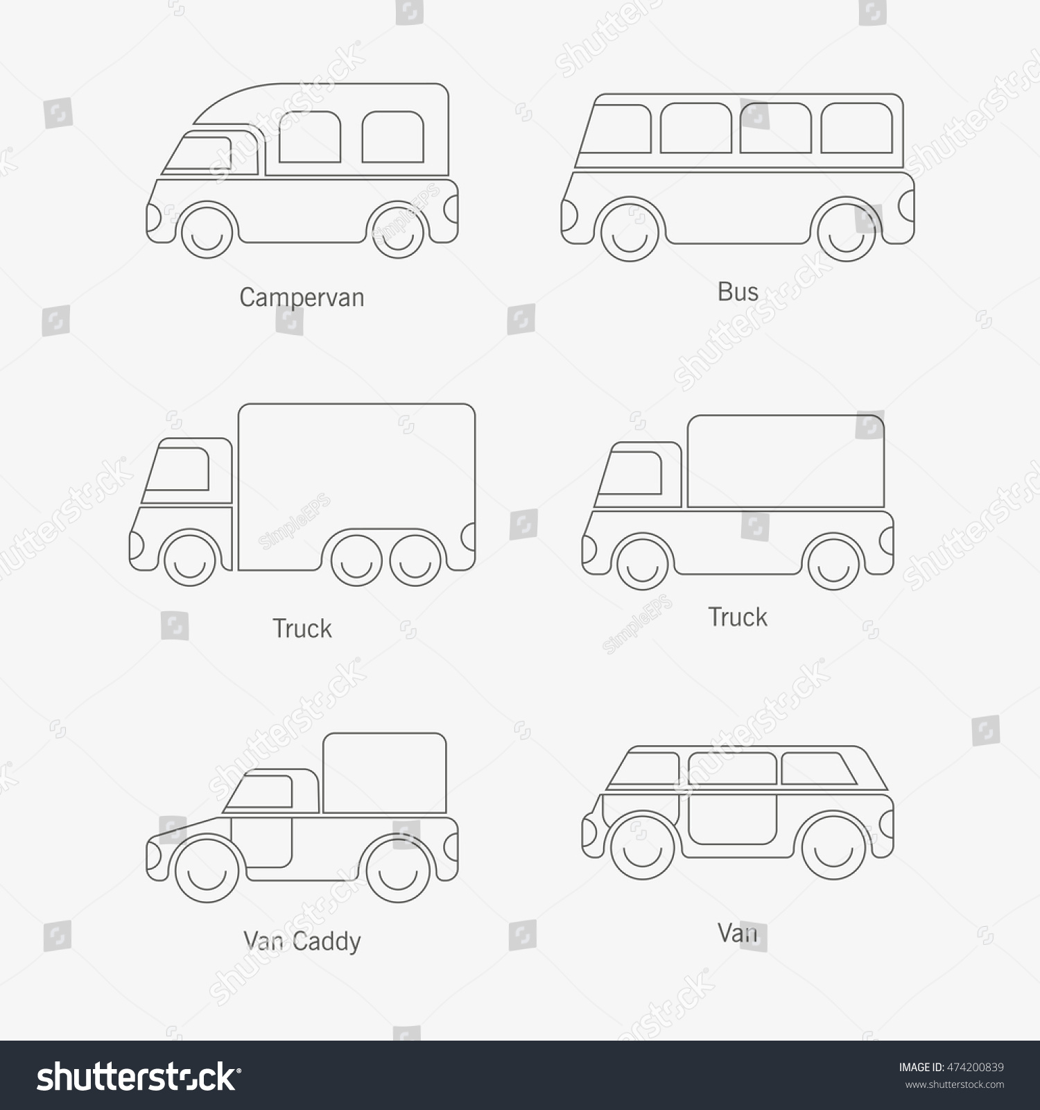simplified illustration vehicle material presentations