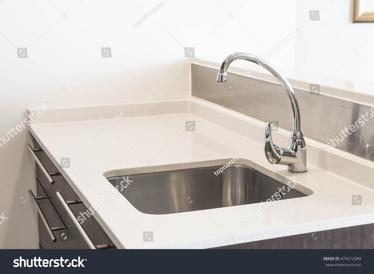 Faucet Sink Water Tab Decoration Kitchen Stock Photo (Royalty Free ...