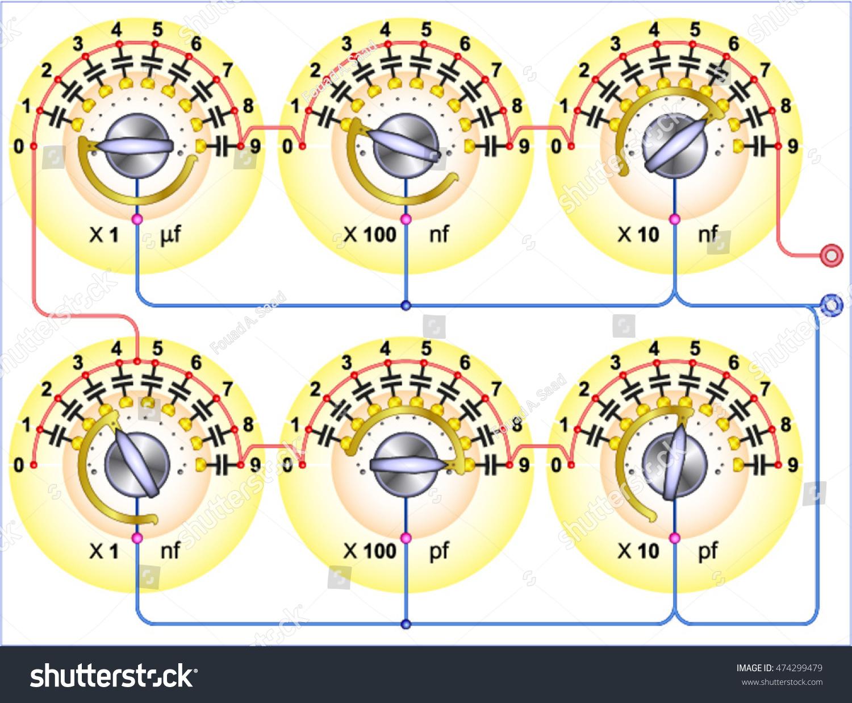 Capacitor Decade Box Stock Vector (Royalty Free) 474299479 on