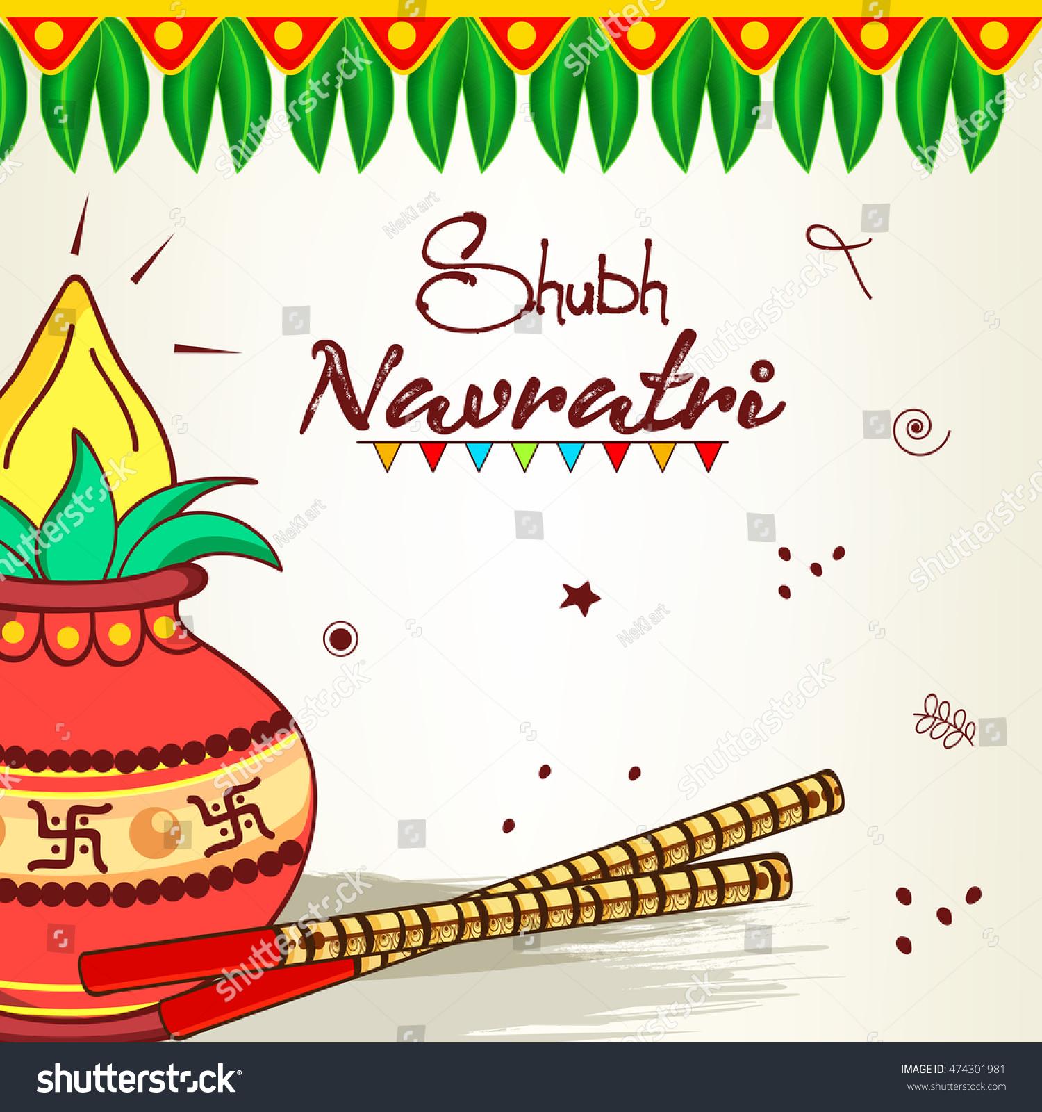 Wallpaper download navratri - Greeting Card Wallpaper Design On Occassion Stock Vector