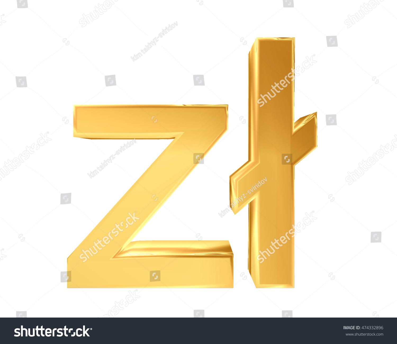 3 D Illustration Zodiac Symbol Polish Zloty Stock Illustration
