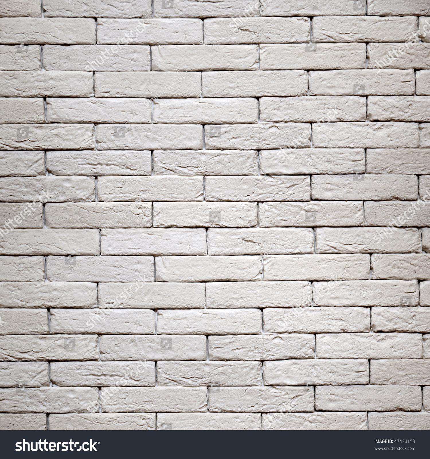 White Brickwall Texture Stock Photo 47434153 Shutterstock