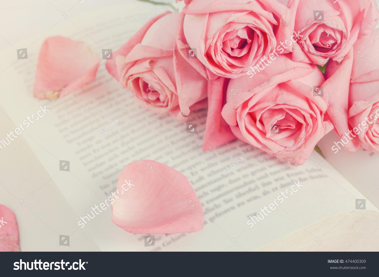 Close Pink Pastel Rose Flower Bouquet Stock Photo Edit Now