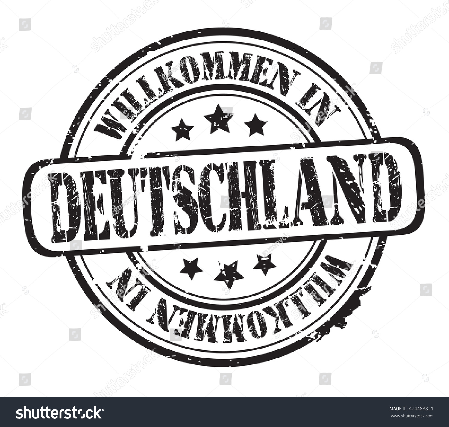 Rubber stamp text welcome germanyin german stock vector 474488821 rubber stamp with text welcome to germanyin german on white buycottarizona Gallery
