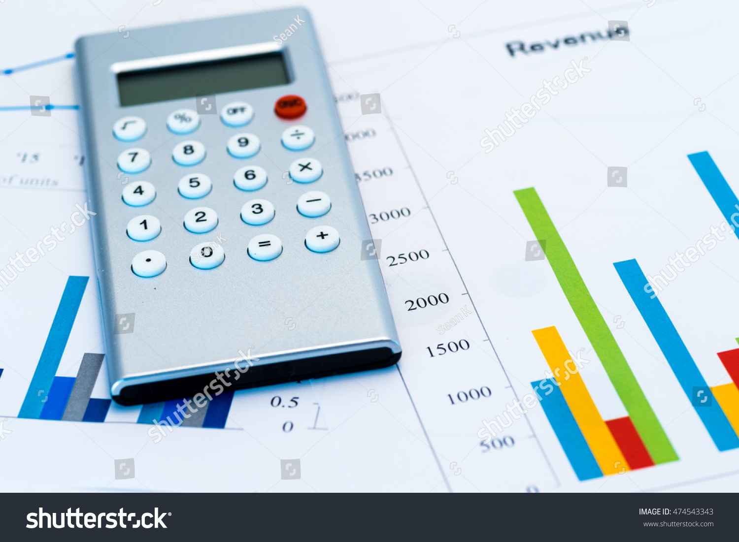 Colorful bar chart calculator stock photo royalty free 474543343 colorful bar chart with calculator ccuart Gallery