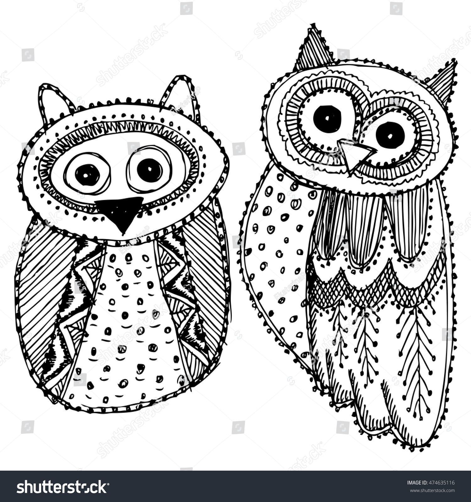 Cute owl sketches