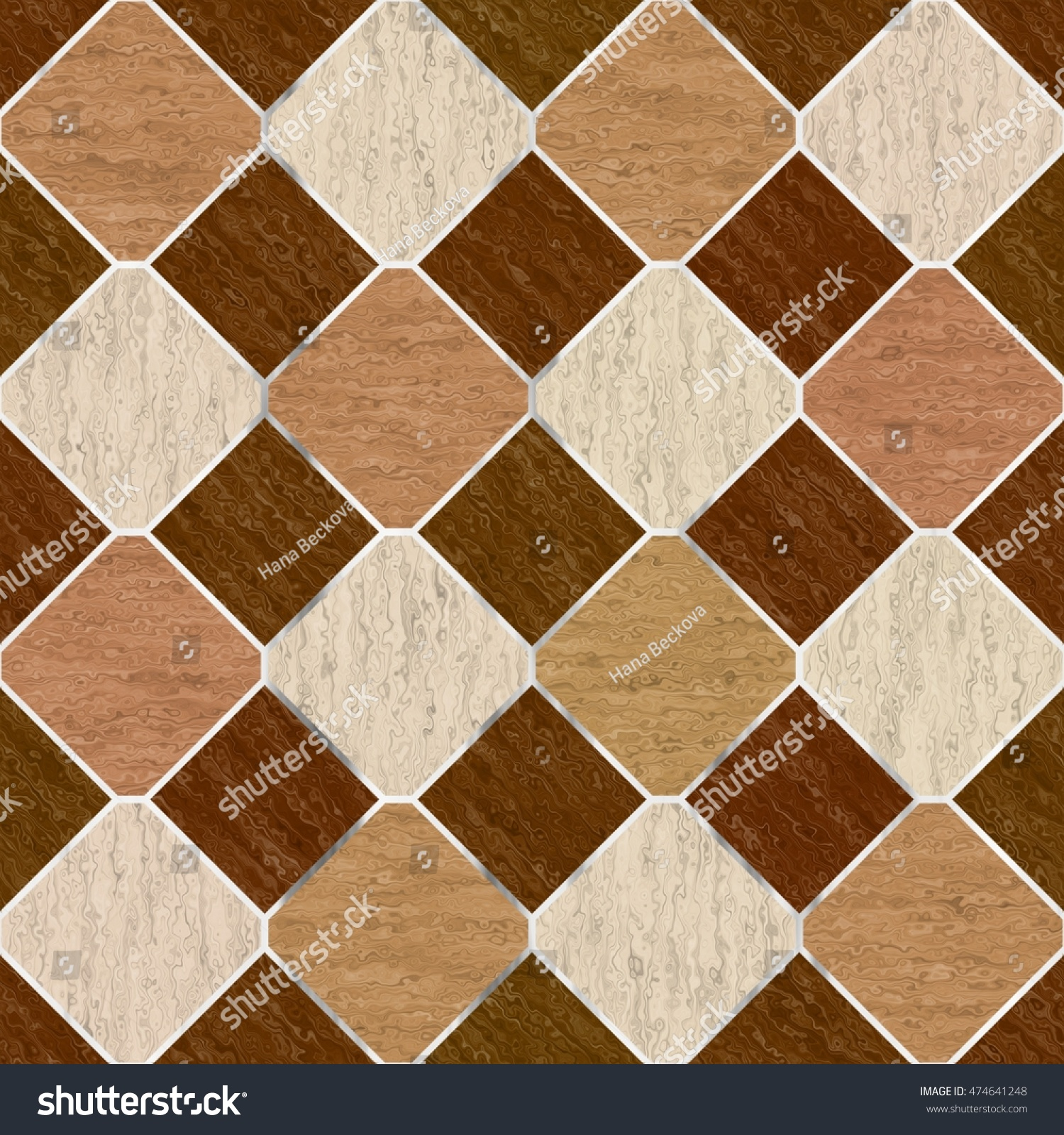 Brown Synthetic Floor Seamless Tiles Generated Stock Illustration