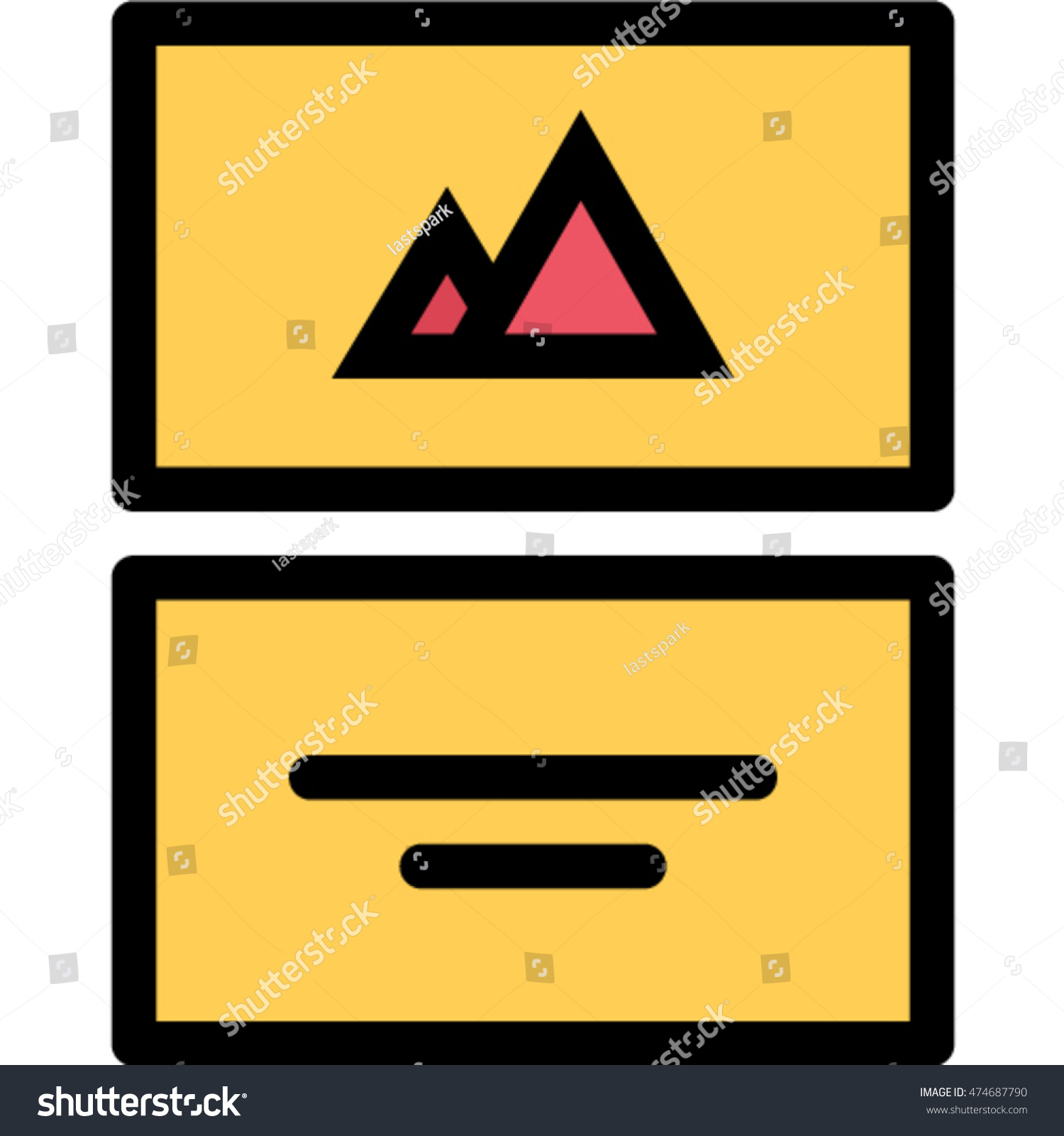 Business Card Outline Icon Stock Vector 474687790 - Shutterstock
