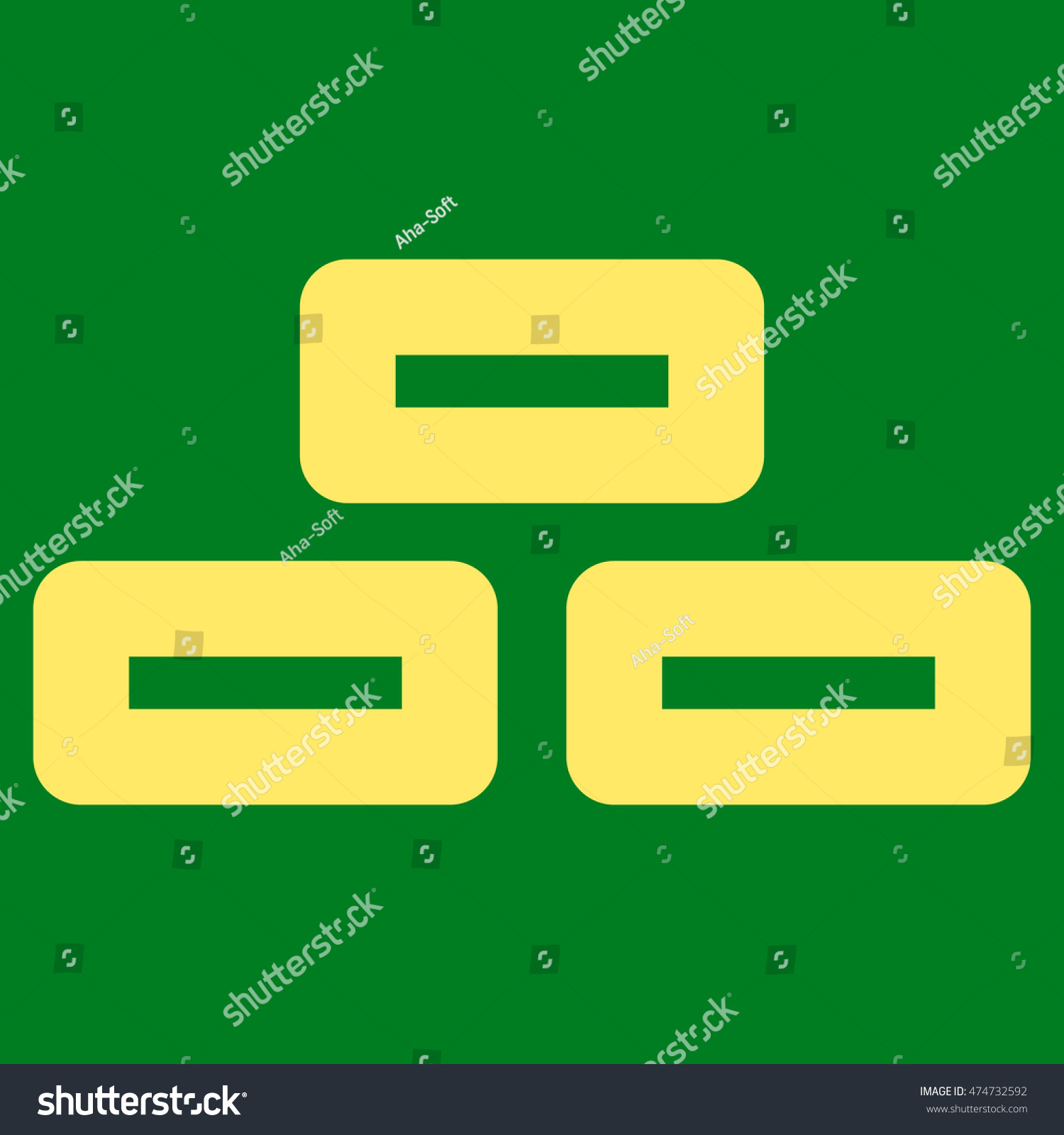 Bricks Vector Icon Style Contour Flat Stock Vector 474732592 ...