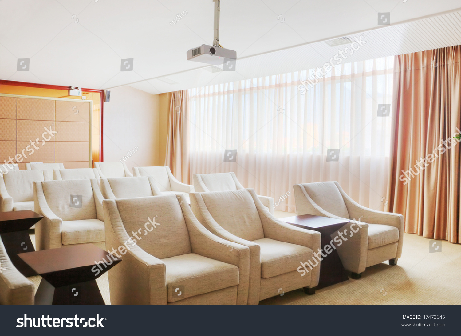 Small Video Conference Room Sofas Movie Stock Photo (Royalty Free ...