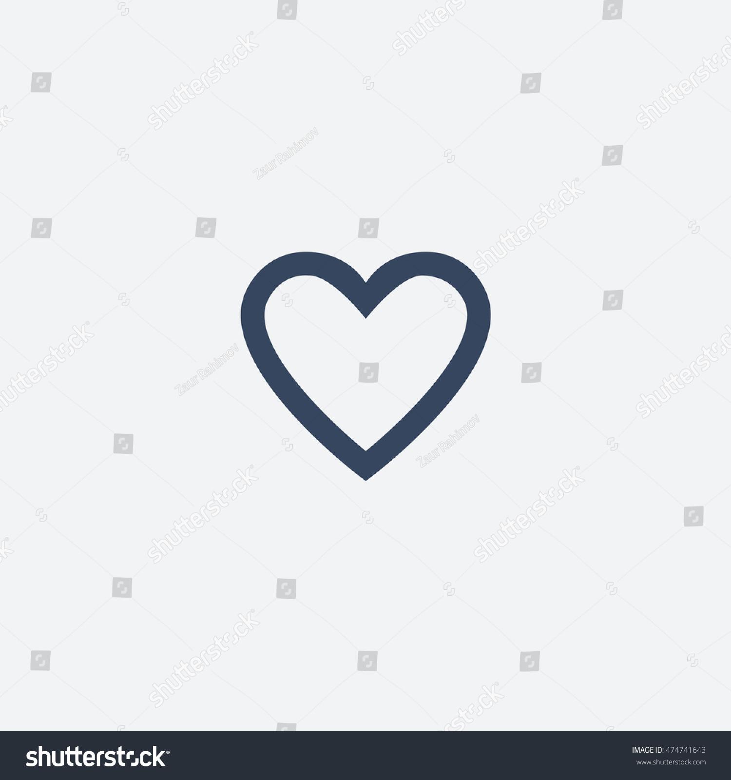 Tumblr Like Heart Icon Vector Isolated Stock-Vektorgrafik ...