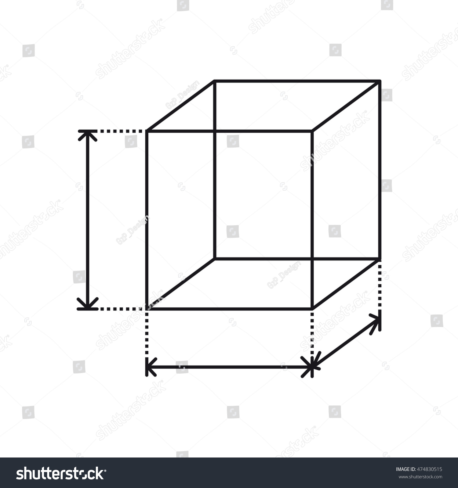 height width icon area size dimension stock vector 474830515 shutterstock. Black Bedroom Furniture Sets. Home Design Ideas