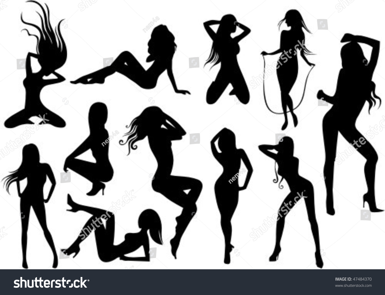 Silhouette Of A Male Stripper 45