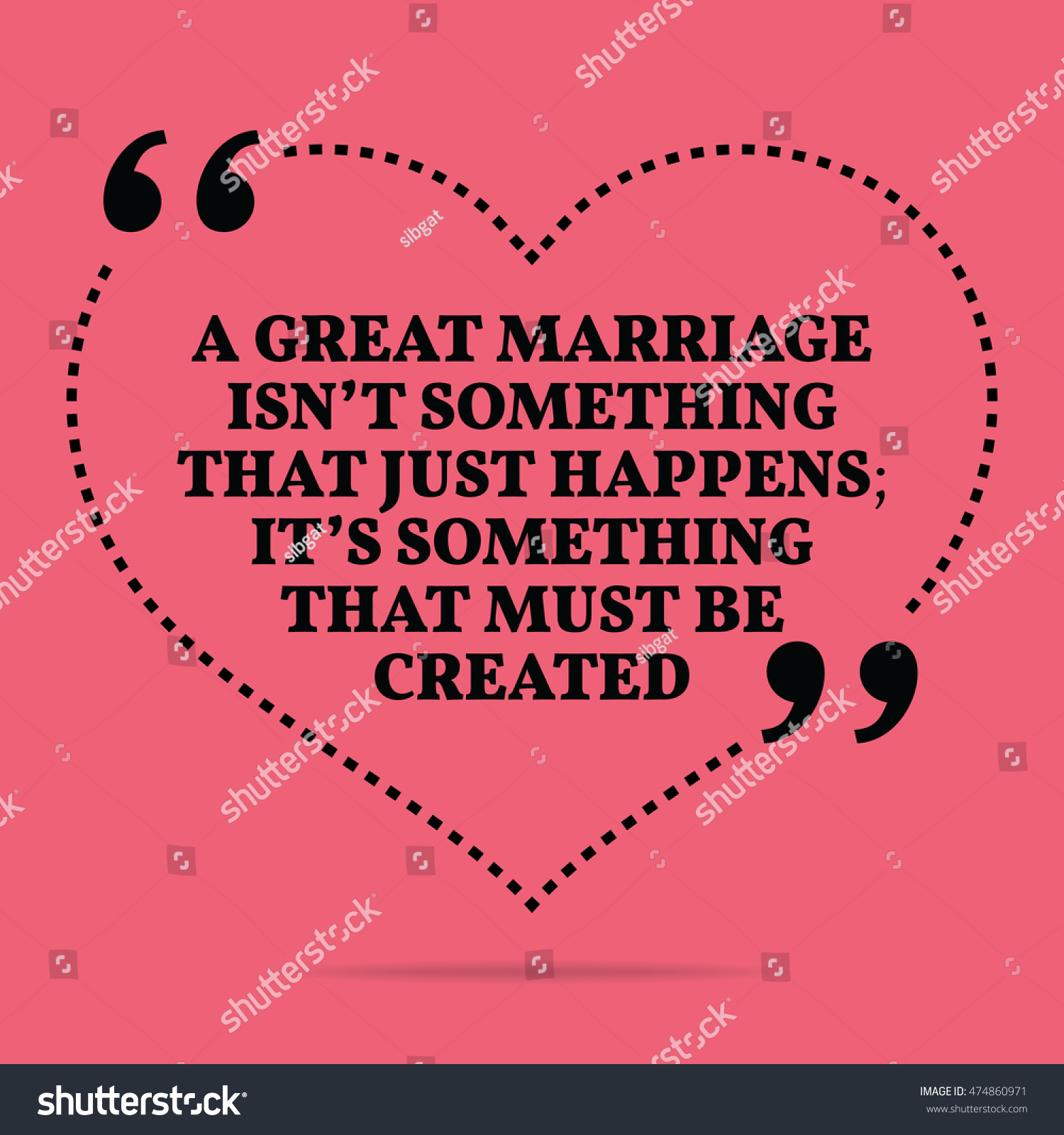Royalty Free Stock Illustration Of Inspirational Love Marriage Quote