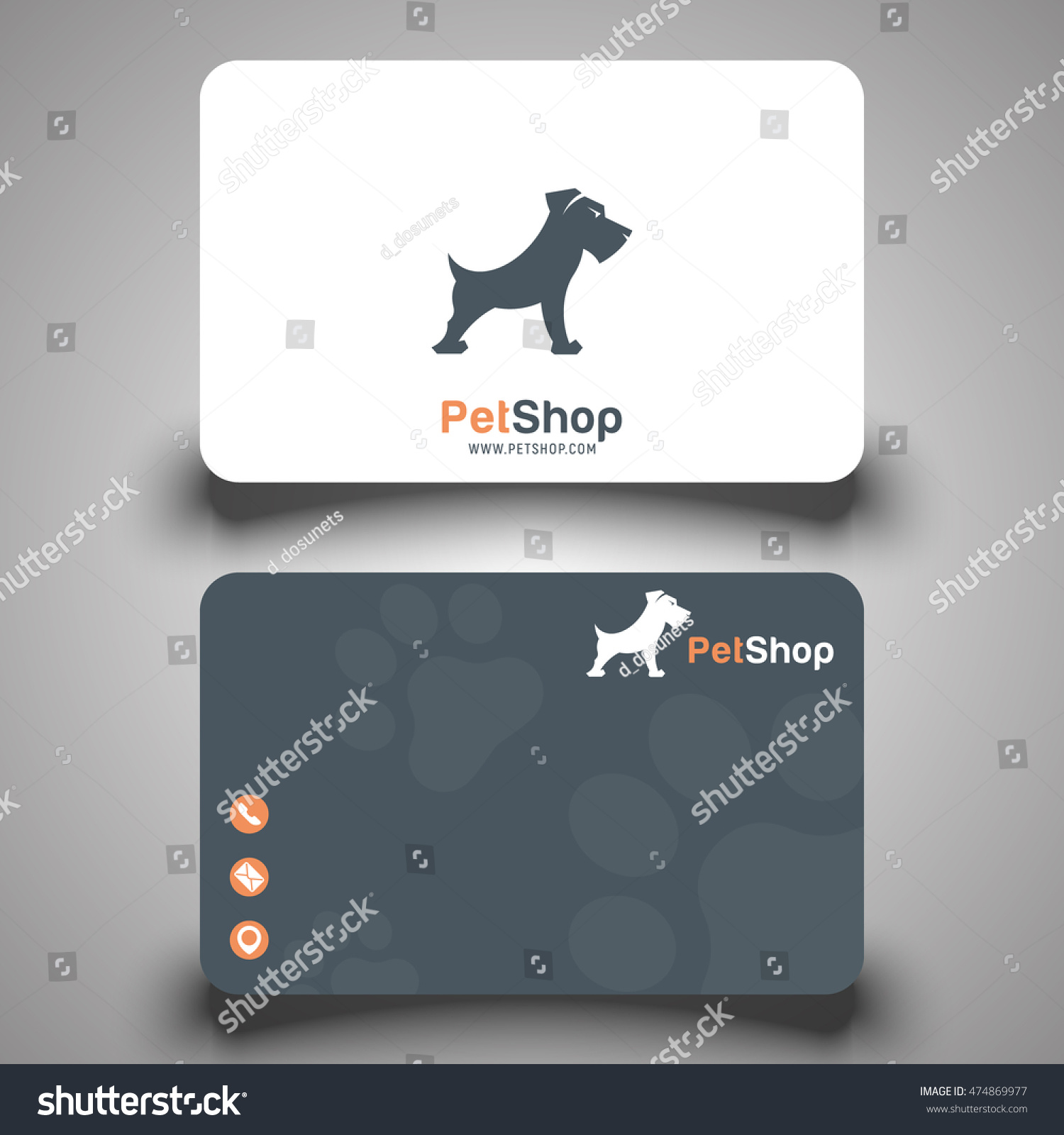 Business Card Pet Shop Vector Stock Photo (Photo, Vector ...