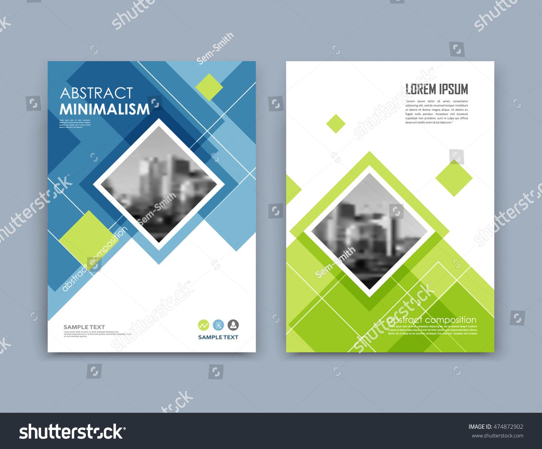 brochure front cover design - abstract a4 brochure cover design text stock vector