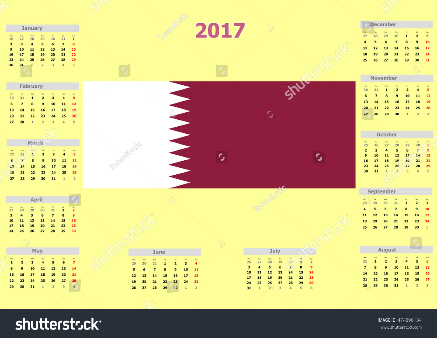 Calendar Qatar : Qatar national vision government communications office