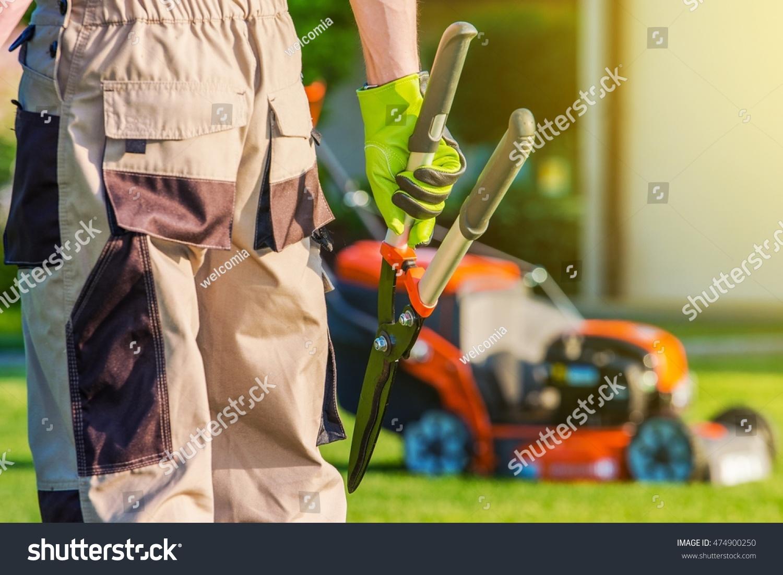 Landscaping professional pro gardener large scissors stock for Big scissors for gardening