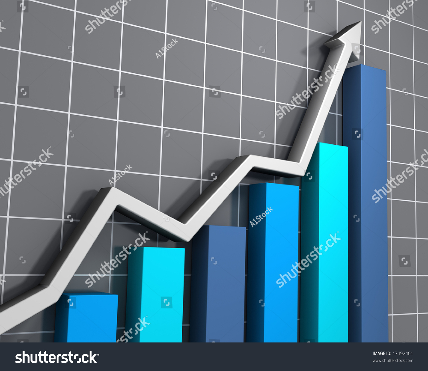 business graph showing growth stock photo 47492401