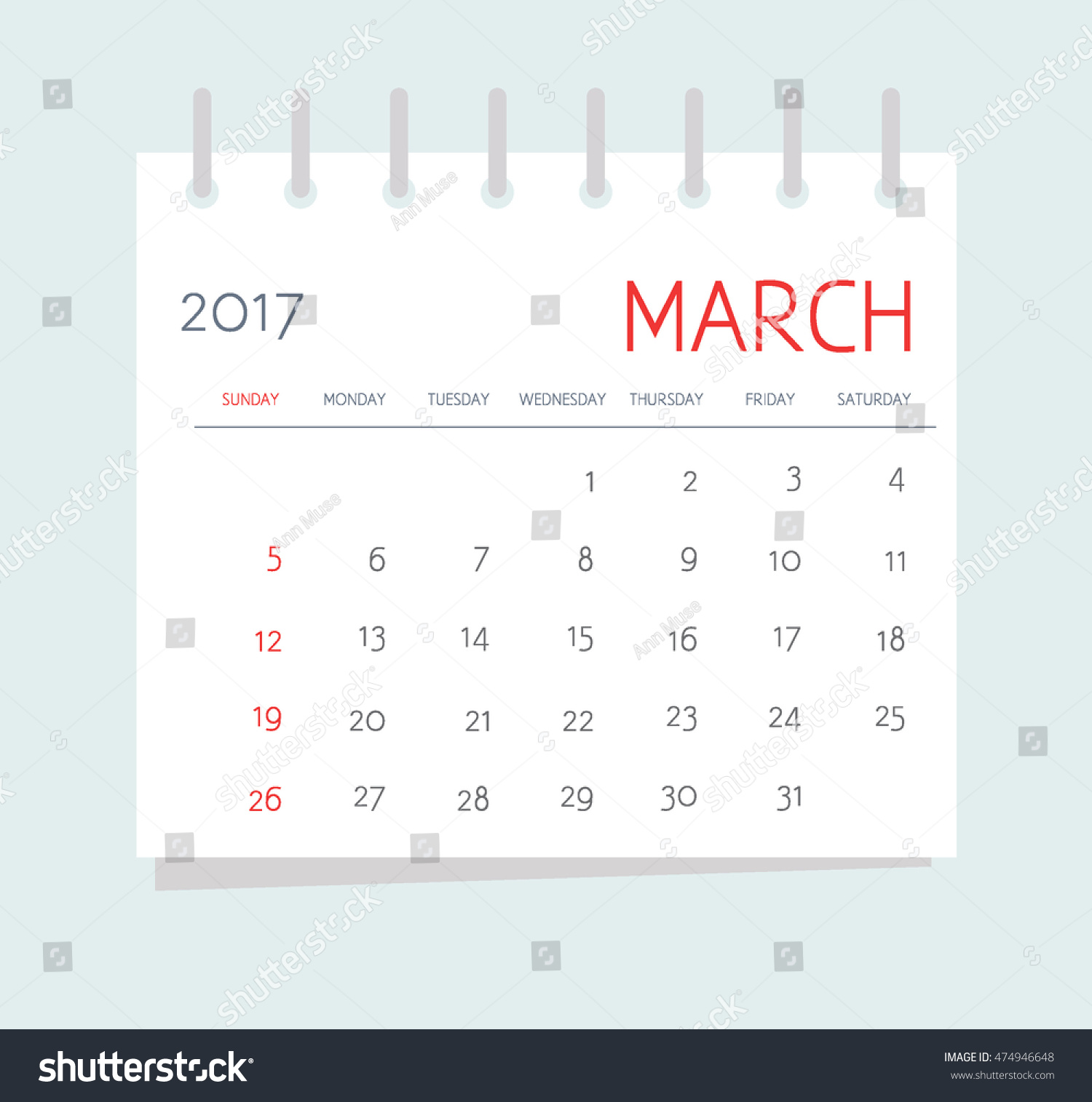 Corporate Calendar 2017 : Business calendar march notebook isolated stock