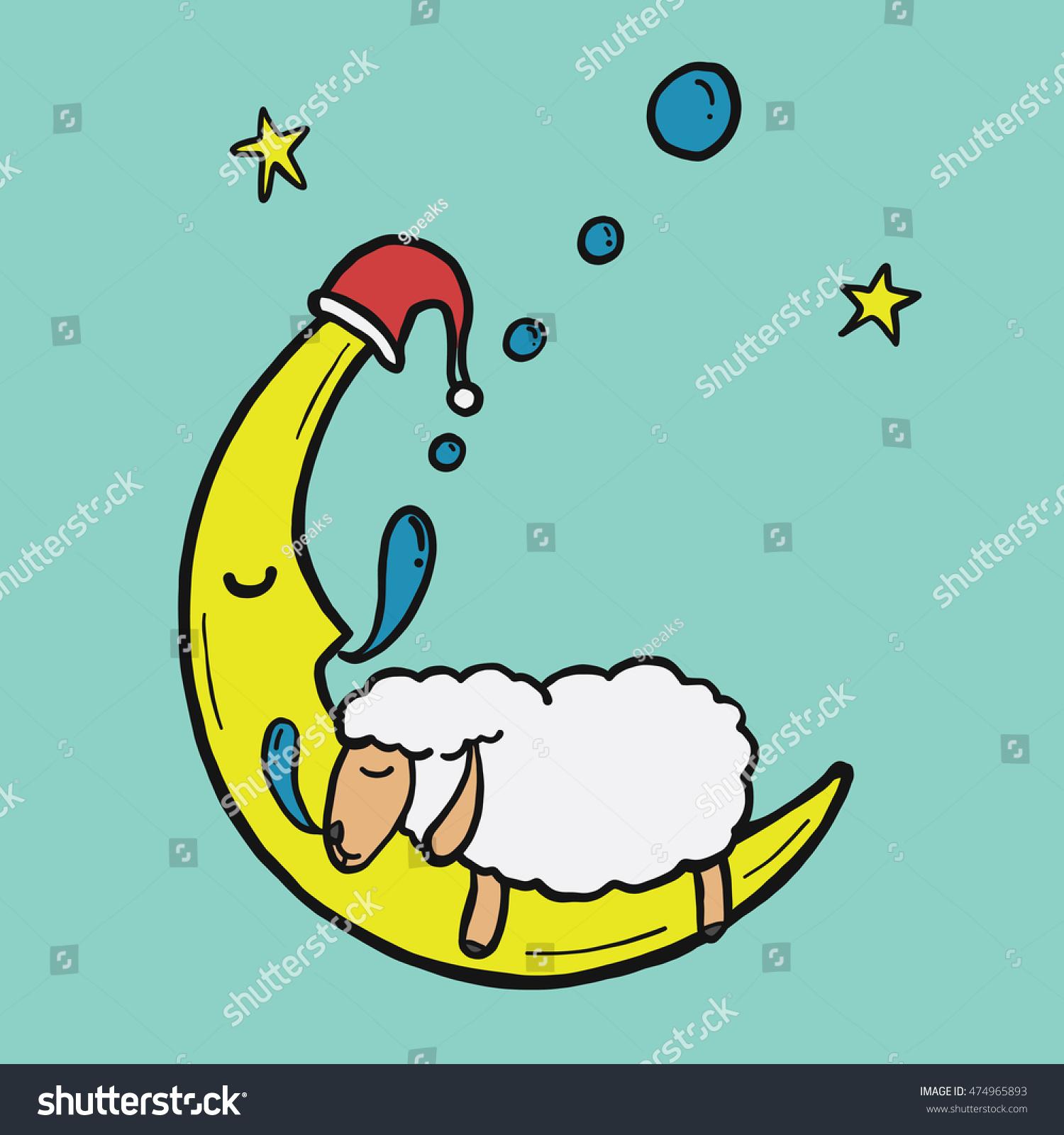 Funny sleep cartoon