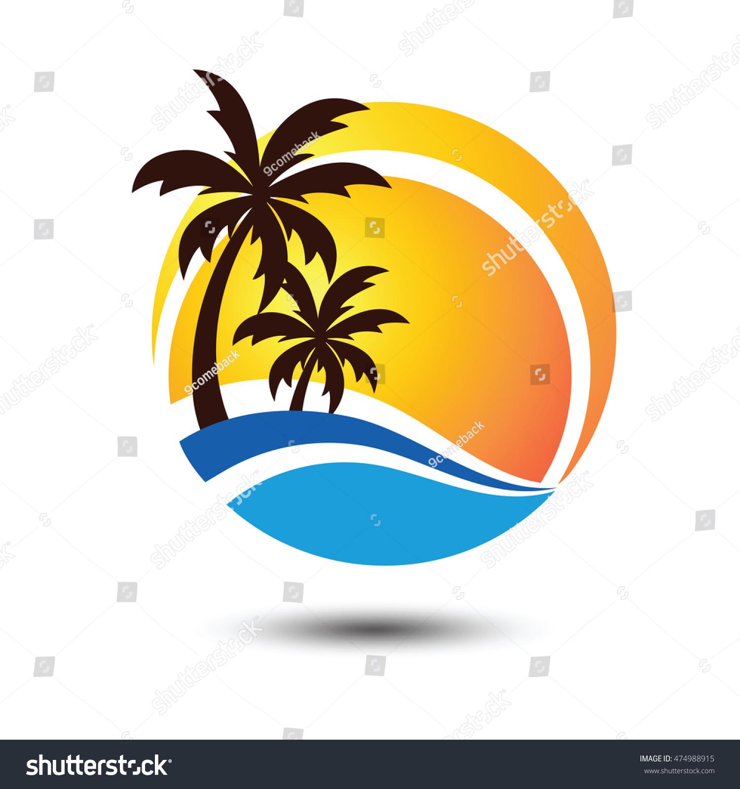 Summer Holidays Design Labels, Badges,Emblem,Vector
