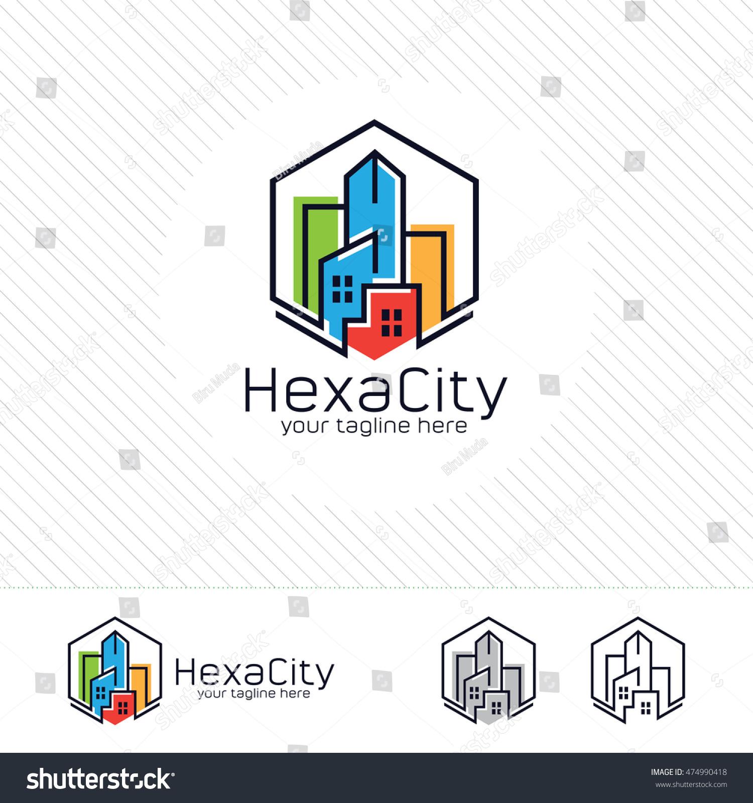 Abstract City Building Logo Design Concept Stock Vector